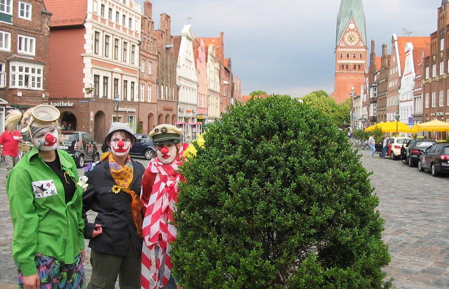 Clowns am Lüneburger Sande